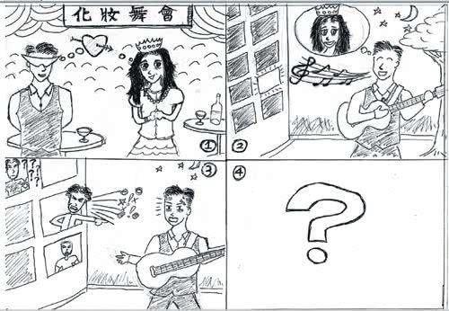 學測考夜市 英文生活化 5年來最易 作文又見四格漫畫 決勝要靠創意
